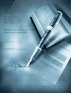 pen and documents
