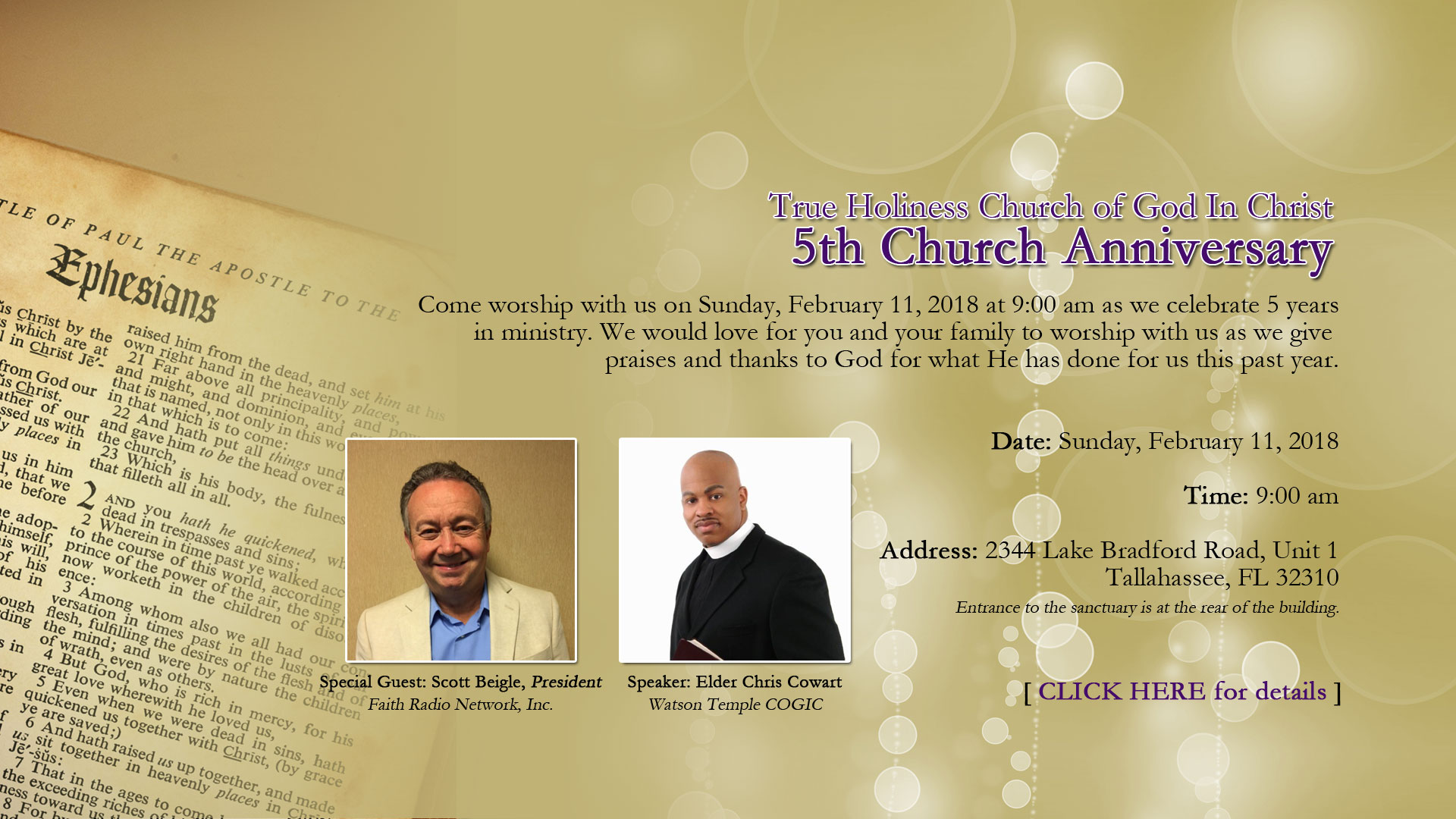 5th Church Anniversary service