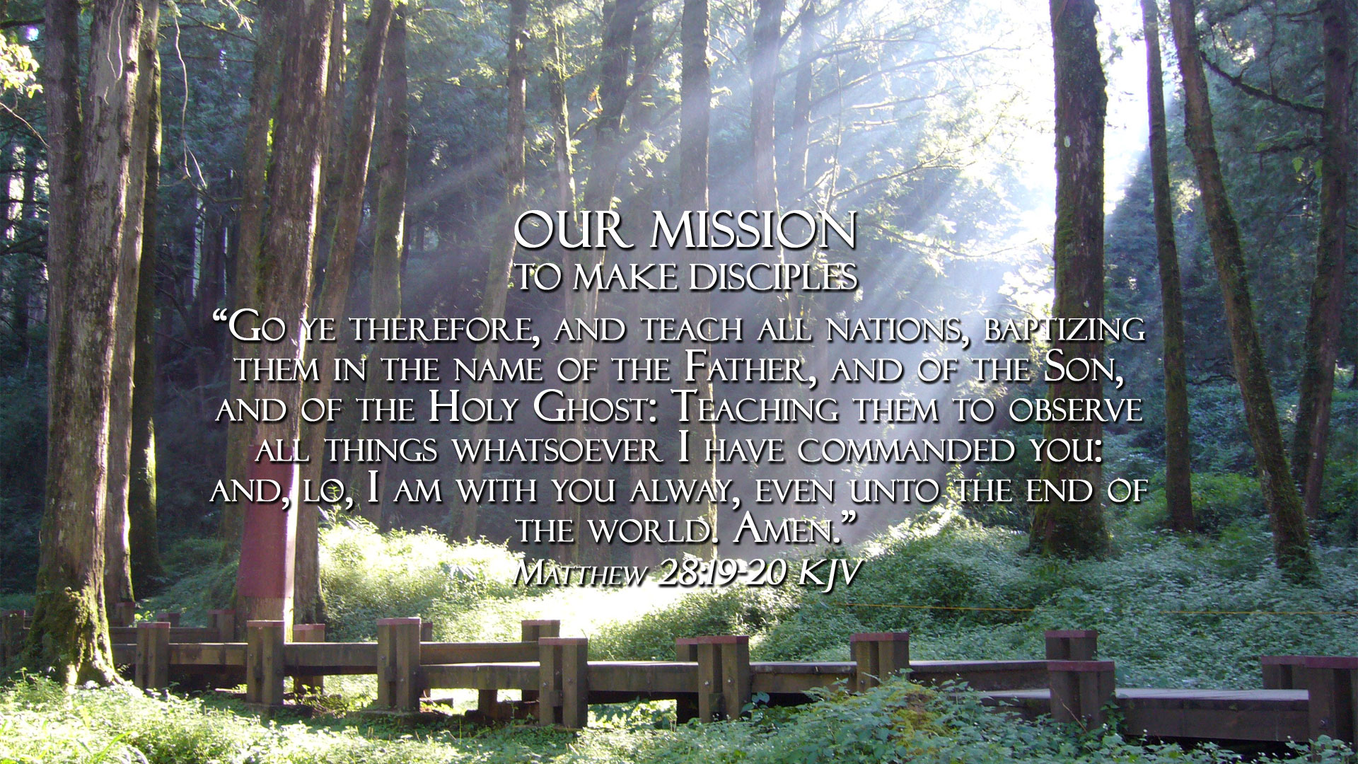 True Holiness Church of God in Christ mission statement