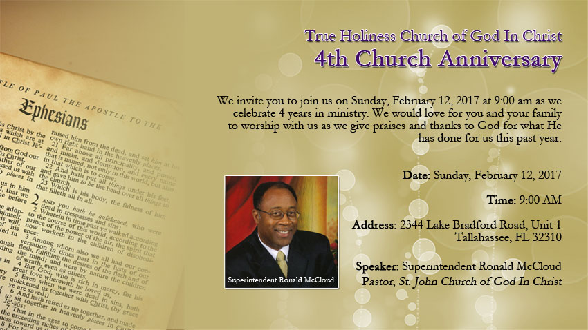 4th Church Anniversary